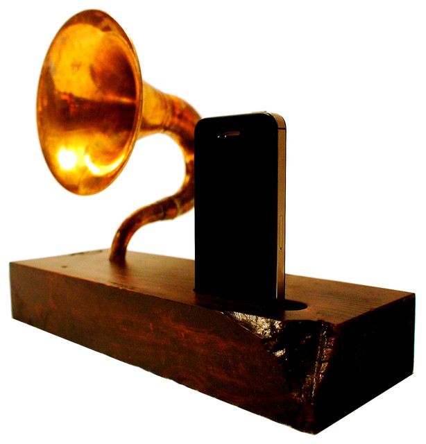 Acoustic Symphony 1.1 iPhone Speaker Horn - Contemporary - Home Electronics - by BSquaredInc