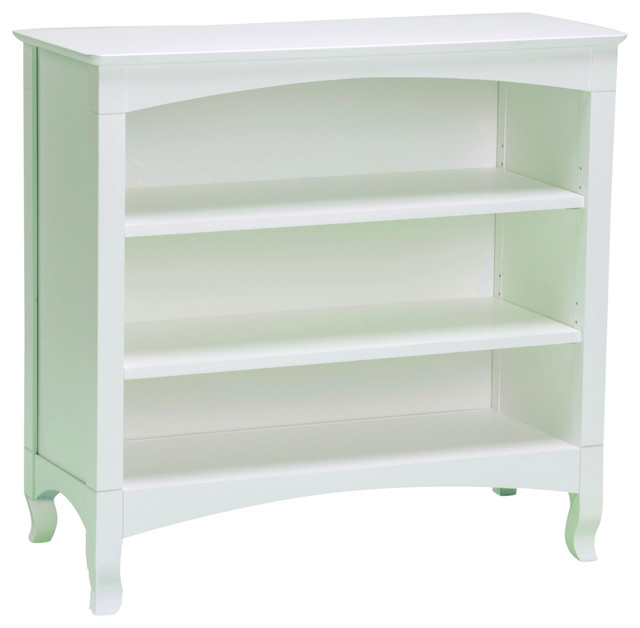 Emma White 3-shelf Low Bookcase - Contemporary - Bookcases - by Overstock.com