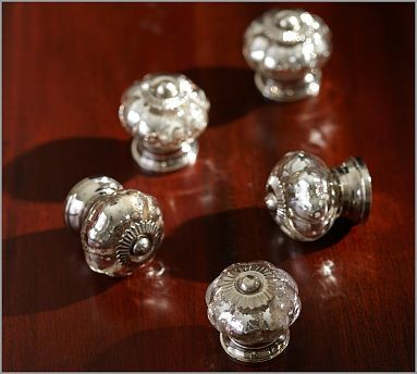 Mercury Glass Knob - Traditional - Cabinet And Drawer Knobs - by Pottery Barn