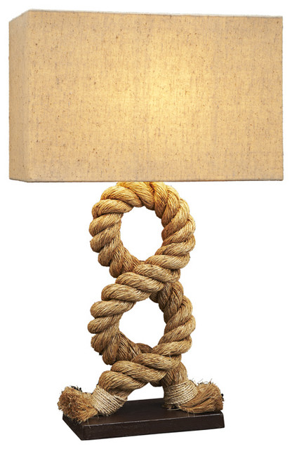 Nautical Rope Table Lamp Beach Style Table Lamps By