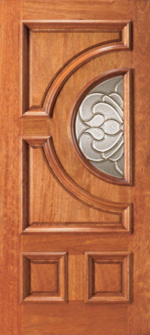 Mahogany radius lite home single door traditional for Single door design for home