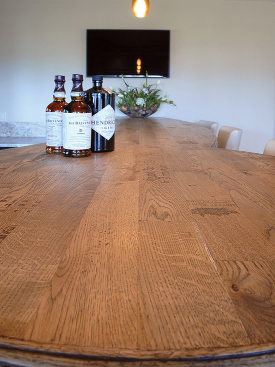 South Shore Club, Lake Geneva, WI - Custom Handcrafted & Distressed Vintage French Oak bar top