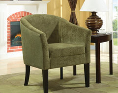 Green Transitional Accent Chair modern-armchairs