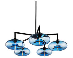 Quill-5 Modern Chandelier contemporary-chandeliers