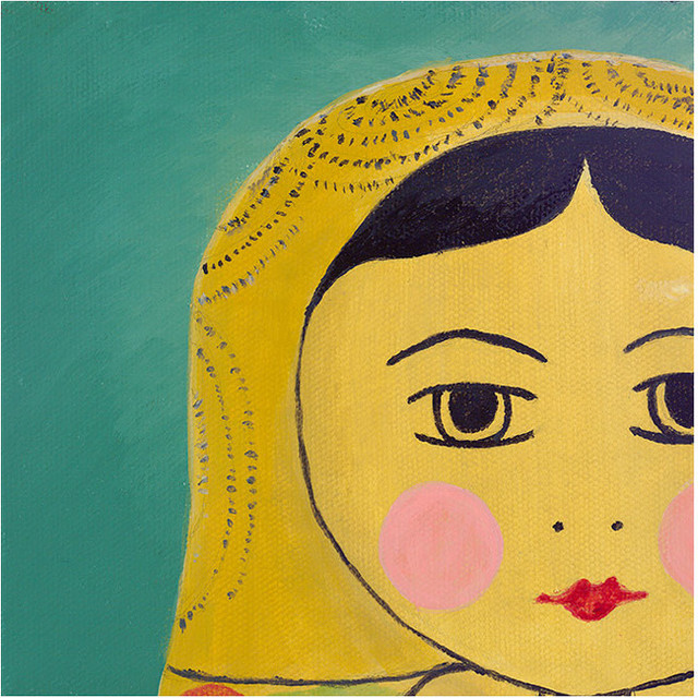 Matryoshka Tiny Face Giclee Wall Art eclectic artwork