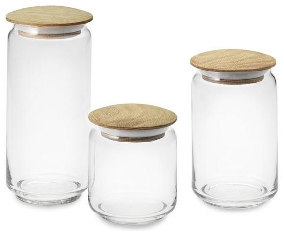 Decorative Glass Kitchen Storage Containers