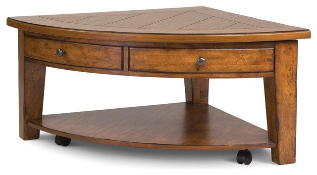 Magnussen T1367-65 Savannah Pie Shaped Lift Top Coffee Table traditional coffee tables