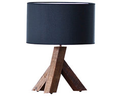 The HomePort Collections Unysn Elm Black Table Lamp contemporary-table-lamps