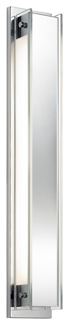 """Sonneman Accanto 28 1/2"""" High Polished Chrome Wall Sconce contemporary-wall-lighting"""