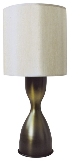 Contemporary Babette Holland Lulu Olive Table Lamp contemporary-table-lamps