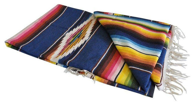1950's Vintage Mexican Serape Blanket - Rustic - Rugs - san francisco - by Chairish