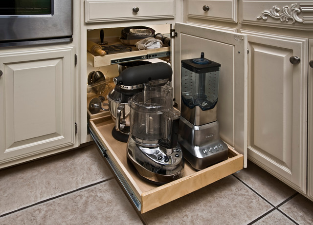 Blind Corner Pull Out Shelves - Kitchen Drawer Organizers ...