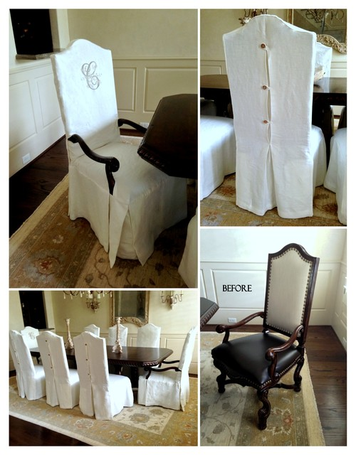 Dining Chair Slipcovers - Traditional - other metro - by LS Slipcovers
