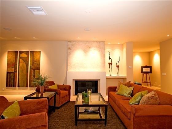 Coronado Custom Home modern-living-room