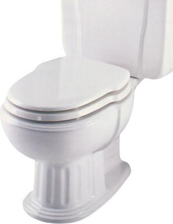 Eljer Savannah Incepa Hampton Elongated Custom Seat White Traditional Toilet Accessories