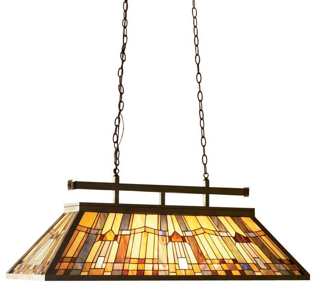 Quoizel tfik348va inglenook traditional tiffany kitchen island billiard light traditional - Traditional pendant lighting for kitchen ...