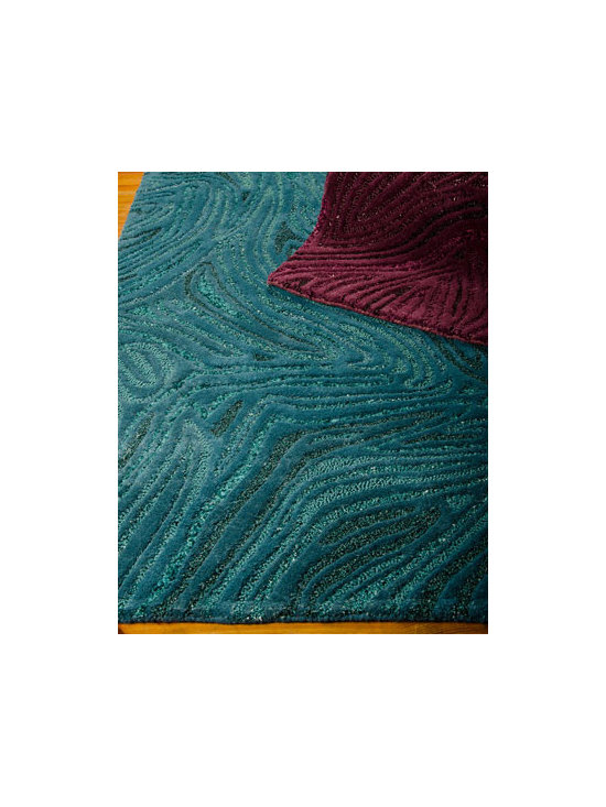 "Joseph Abboud - Joseph Abboud ""Swirl"" Rug - Multi-dimensional and reflective of mixed media creations, this rug combines sophisticated, high-fashion style with distinctively modern color palettes and luxurious texture to flood the room with vibrant color. Hand tufted of polyester/wool/viscose. ...."