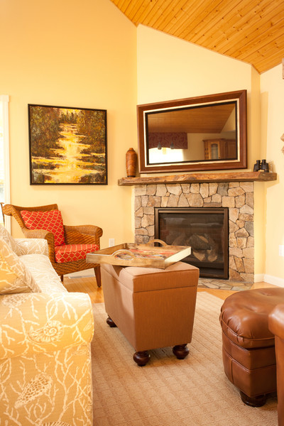 Corner fireplace makeover - contemporary - family room - boston ...
