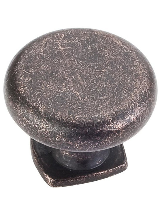 Jeffrey Alexander MO6303DMAC Cabinet Knob - Belcastel 1 Series - Distressed Oil - This distressed oil rubbed bronze finish round cabinet knob with forged design is a part of the Belcastel 1 Series from Jeffrey Alexander. A perfect blend of craftmanship in traditional and contemporary design to complement any decor.