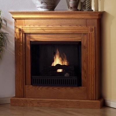 Southern Enterprises Cheryl Corner Gel Fuel Fireplace Modern Fireplaces By Hayneedle