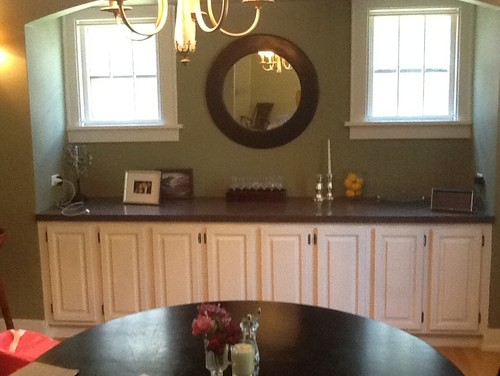 Dining room decoration for Built in dining room buffet ideas