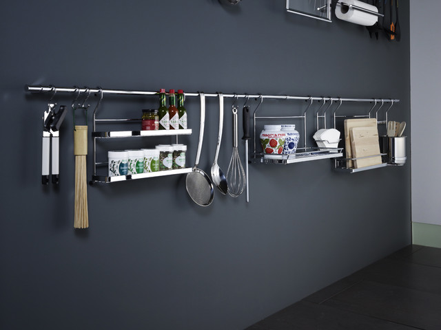 Linero Backsplash Storage - pot racks - wilmington - by Clever