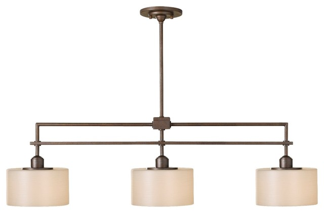 Contemporary Sunset Drive Collection 3-Light Island Chandelier contemporary-chandeliers