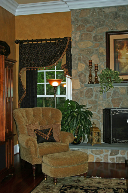Panels And Top Treatments Traditional Living Room Baltimore By Sew Be