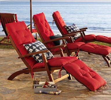 Chesapeake Steamer Chaise & Cushion modern outdoor chaise lounges