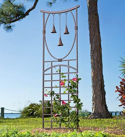 Three-Bell Trellis asian garden sculptures
