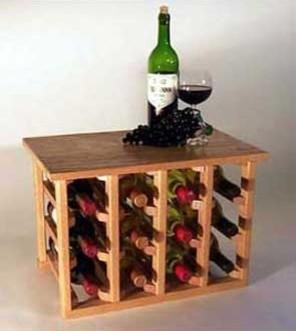 12 Bottle Table Model Wine Rack traditional-wine-racks