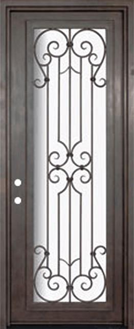 Milano 36x96 Wrought Iron Single Door 14 Gauge Steel mediterranean-front-doors