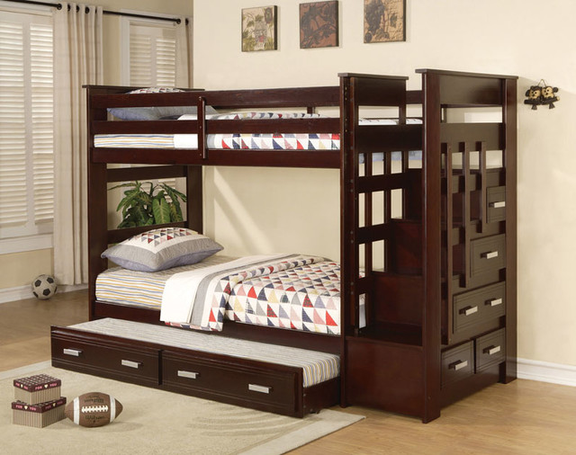 Twin Bunk Beds with Stairs 640 x 506