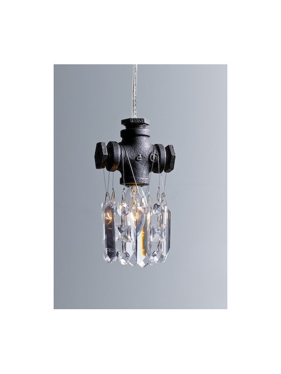 Michael McHale Designs - Tribeca Collection Single-Bulb Pendant Chandelier - Michael McHale Designs Industrial Chandeliers
