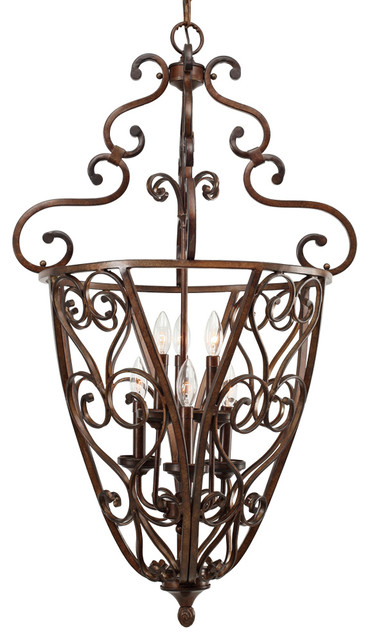 Loretto Caged Foyer traditional-chandeliers