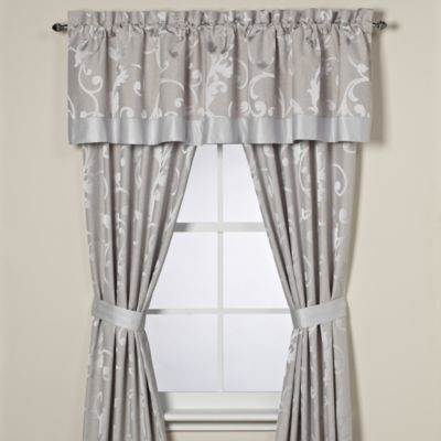 Palais Royale Adelaide Window Panel Pair Contemporary Curtains By Bed Bath Beyond