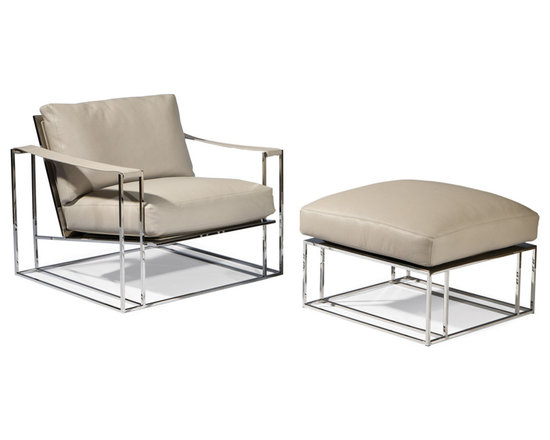 Sling Chair and Ottoman by Milo Baughman from Thayer Coggin - Thayer Coggin Inc.