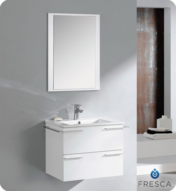 fresca cielo white 24 quot modern bathroom vanity chicago