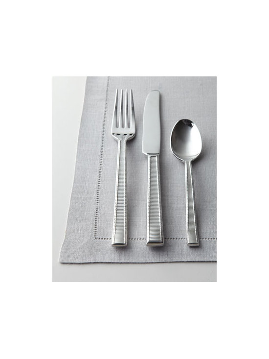 "kate spade new york - kate spade new york Five-Piece ""Grace Avenue"" Flatware Place Setting - Host a fabulous dinner party with this kate spade new york flatware featuring a crisp, classic grosgrain pattern adorning slim handles. 18/10 stainless steel. Five-piece place setting includes dinner fork, salad fork, dinner knife, teaspoon, and dinn..."