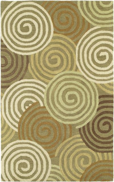 "Kaleen Casual Chakra 5' x 7'6"" Brown Rug contemporary-rugs"