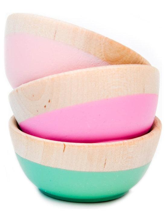 Dipped Mini Bowls, Set of 3 -