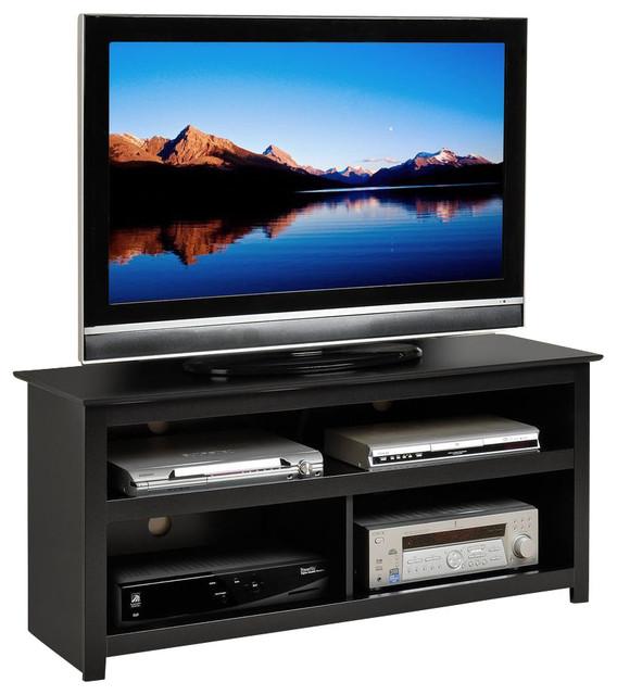 Prepac Vasari Flat Panel Plasma / LCD TV Console in Black traditional ...