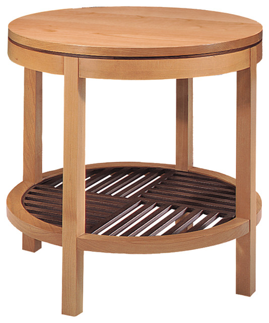 Stickley Round Lamp Table 7778 traditional-side-tables-and-end-tables