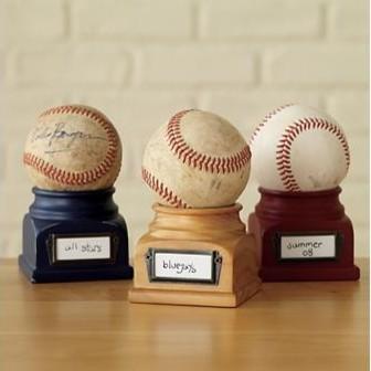 Kids Wooden Baseball Podium Trophy contemporary-kids-decor