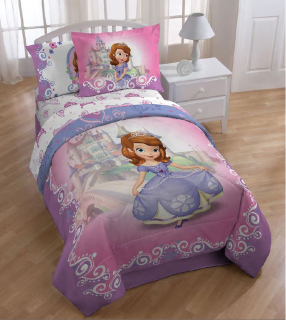Sofia The First Throw And Pillow Set : Disney Sofia the First Princess Introducing Sofia Twin-size 5-piece Bed in a B - Contemporary ...
