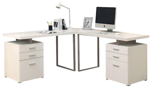 L Shaped Computer Desk White White L Shaped Computer