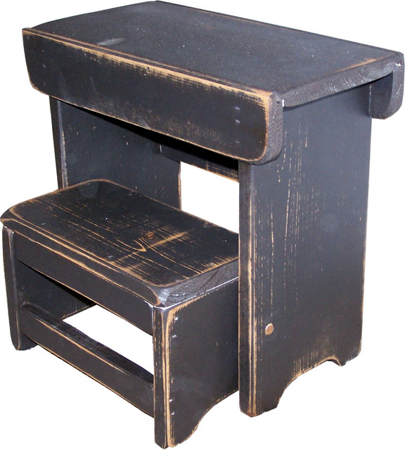 Primitive Folding Step Stool Traditional Ladders And