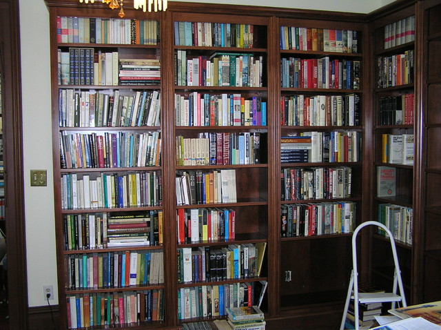 Custom Birch Bookcase Units traditional-home-office