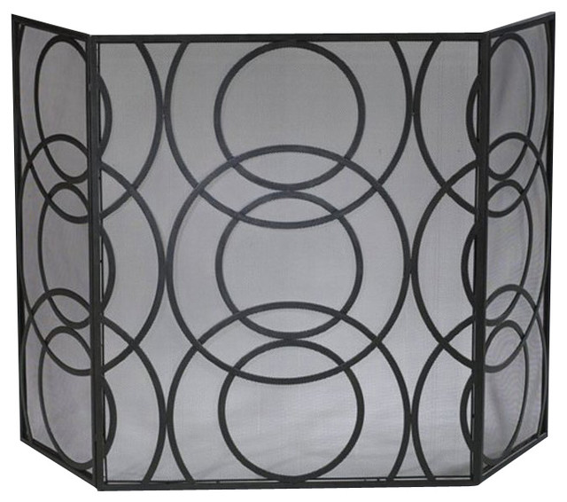 Orb Fire Screen contemporary-fireplace-accessories