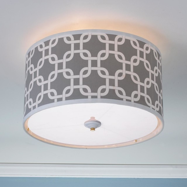 Geometric Fretwork Drum Shade Ceiling Light 8 Colors Lamp Shades By Sha